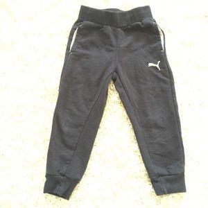 PUMA Cotton Blend Jogger Pants In Blue - Size 2T